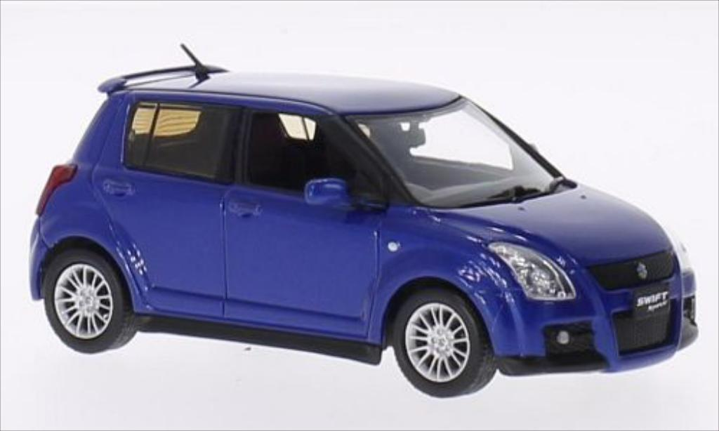 suzuki swift sport metallic blau 2007 mcw modellauto 1 43. Black Bedroom Furniture Sets. Home Design Ideas