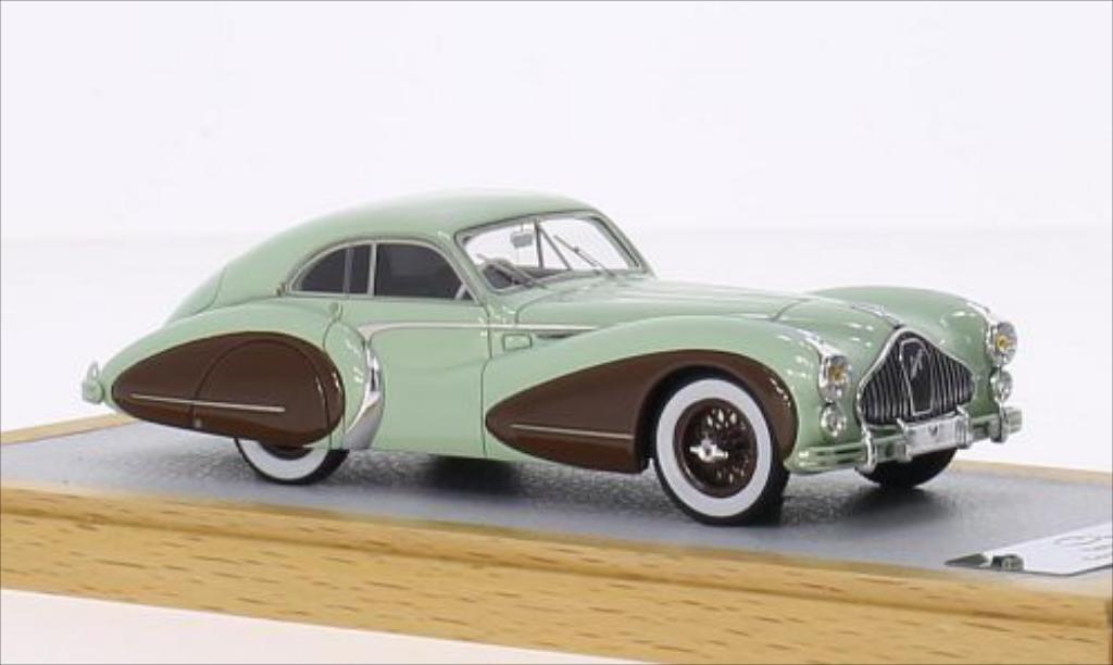 Talbot Lago 1/43 Chromes T26 Coupe Grand Sport Saoutchik verte/marron RHD 1948 miniature