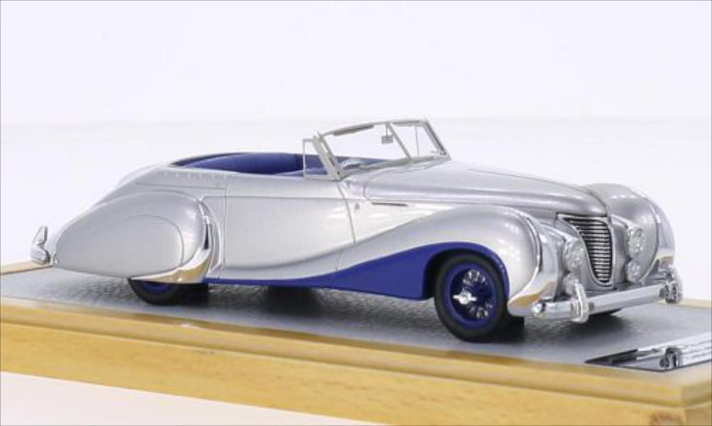 Talbot Lago 1/43 Chromes T26 Record Cabriolet Saoutchik grise/bleu RHD 1948 miniature