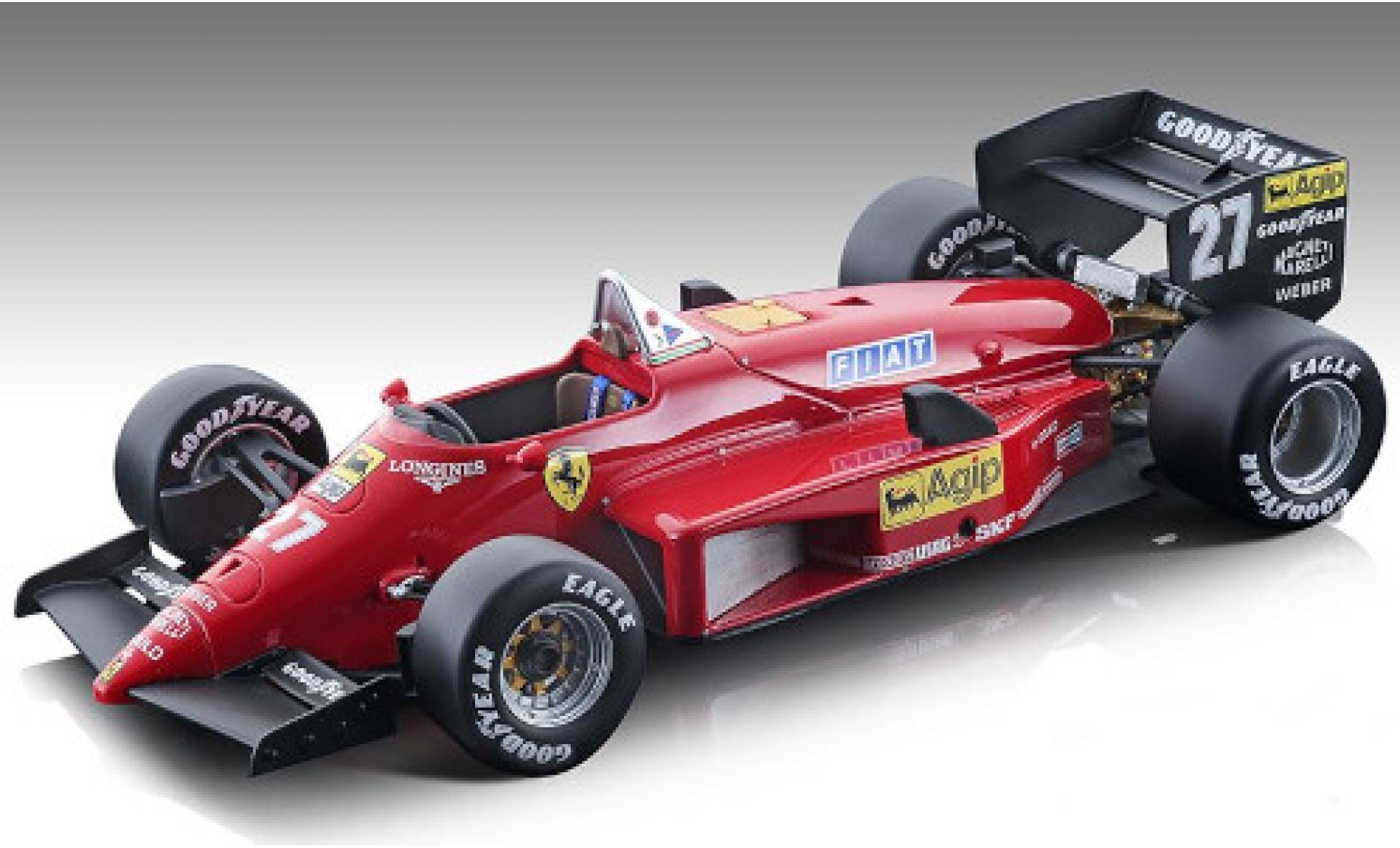Ferrari 156 1/18 Tecnomodel -85 No.27 Scuderia Formel 1 GP Kanada 1985 y compris les Decals M.Alboreto