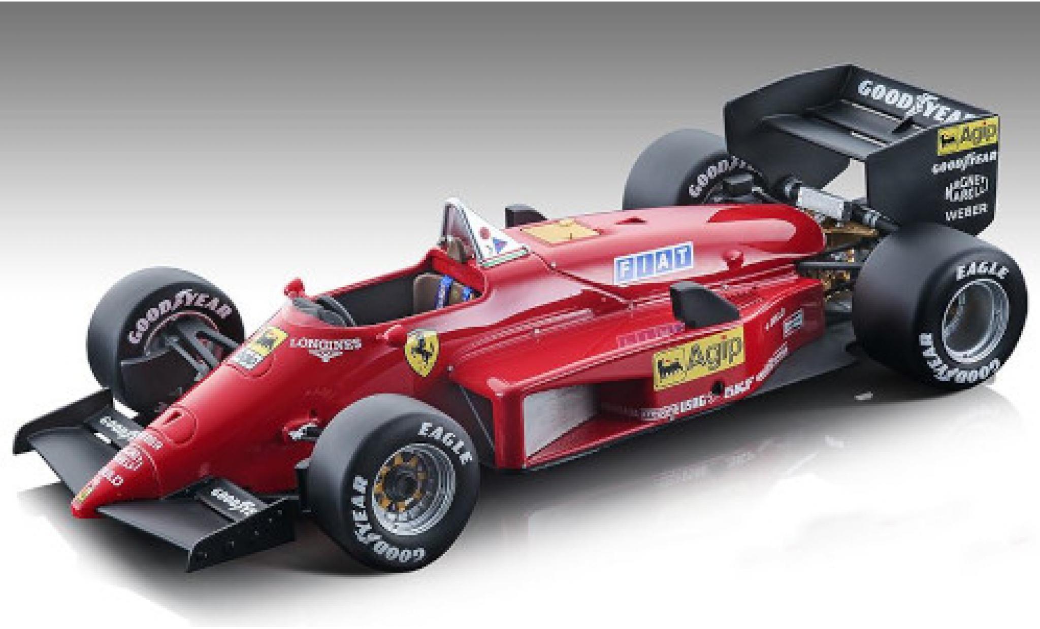 Ferrari 156 1/18 Tecnomodel -85 Scuderia Formel 1 1985 Pressefahrzeug y compris les Decals M.Alboreto