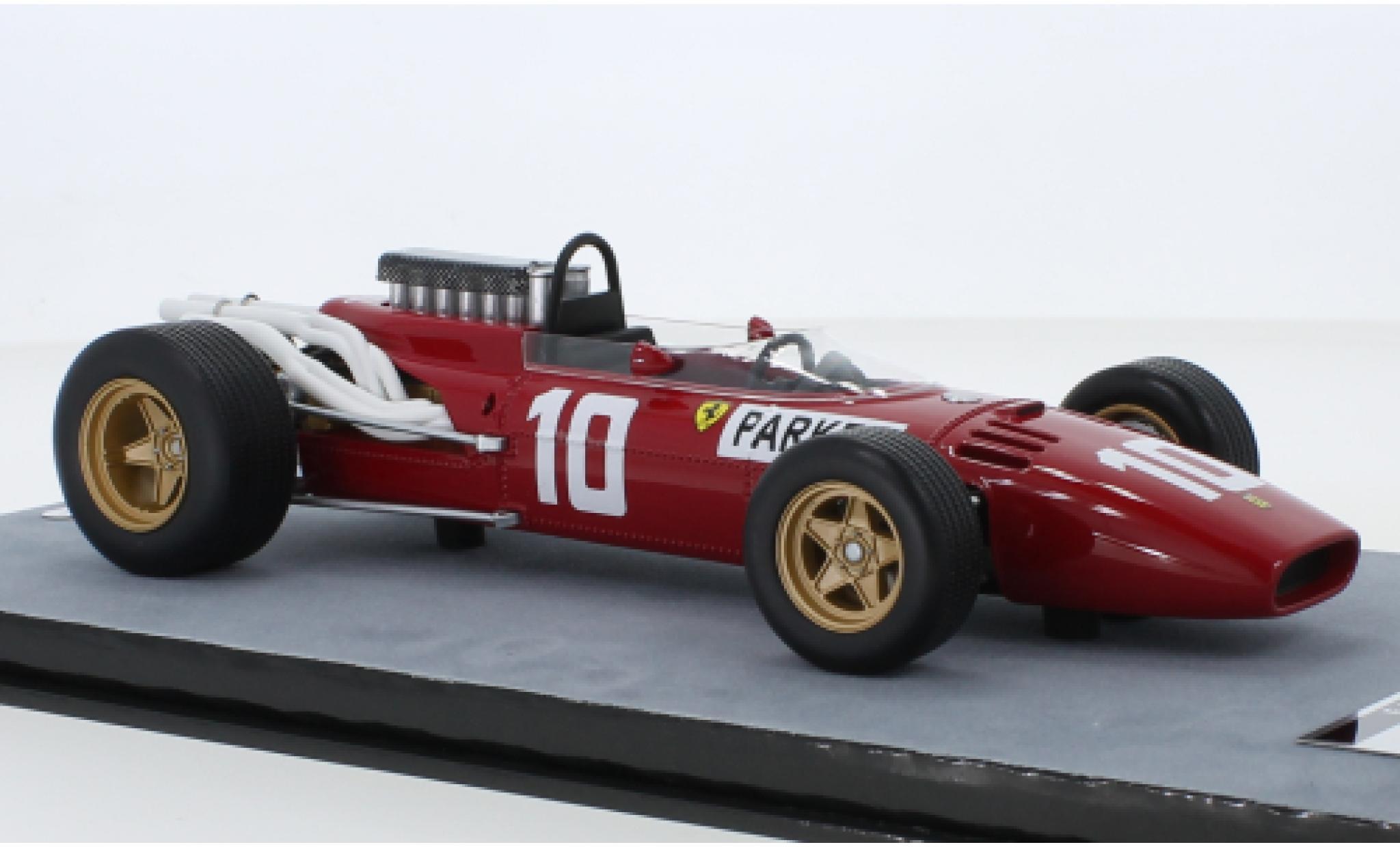 Ferrari 312 1/18 Tecnomodel F1 No.10 Scuderia Formel 1 GP Nürburgring 1966 M.Parkes