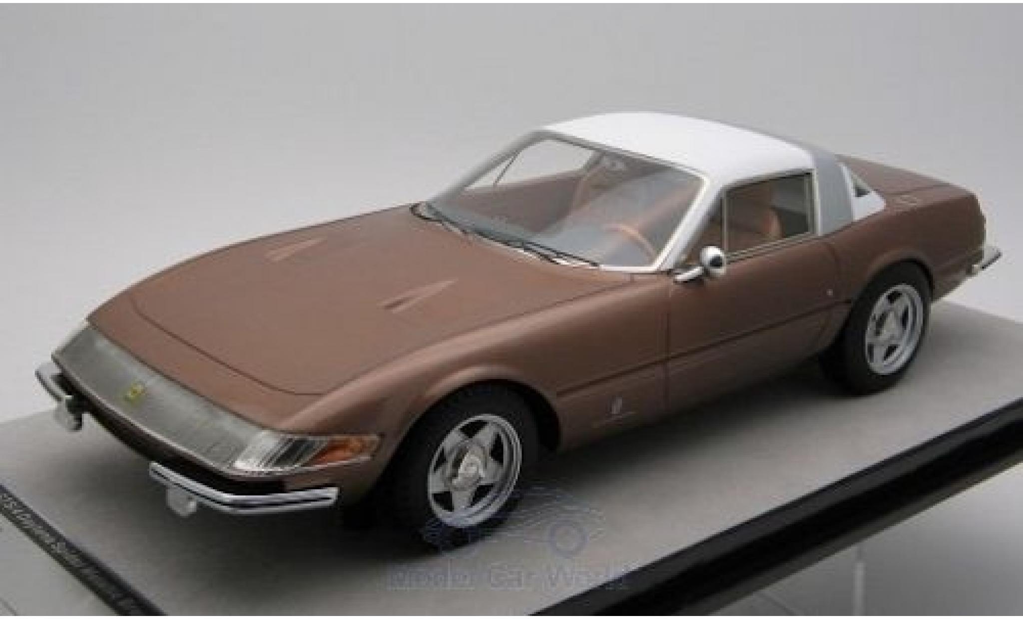 Ferrari 365 1/18 Tecnomodel GTB/4 Daytona Coupe Speciale metallise bronze/blanche 1969
