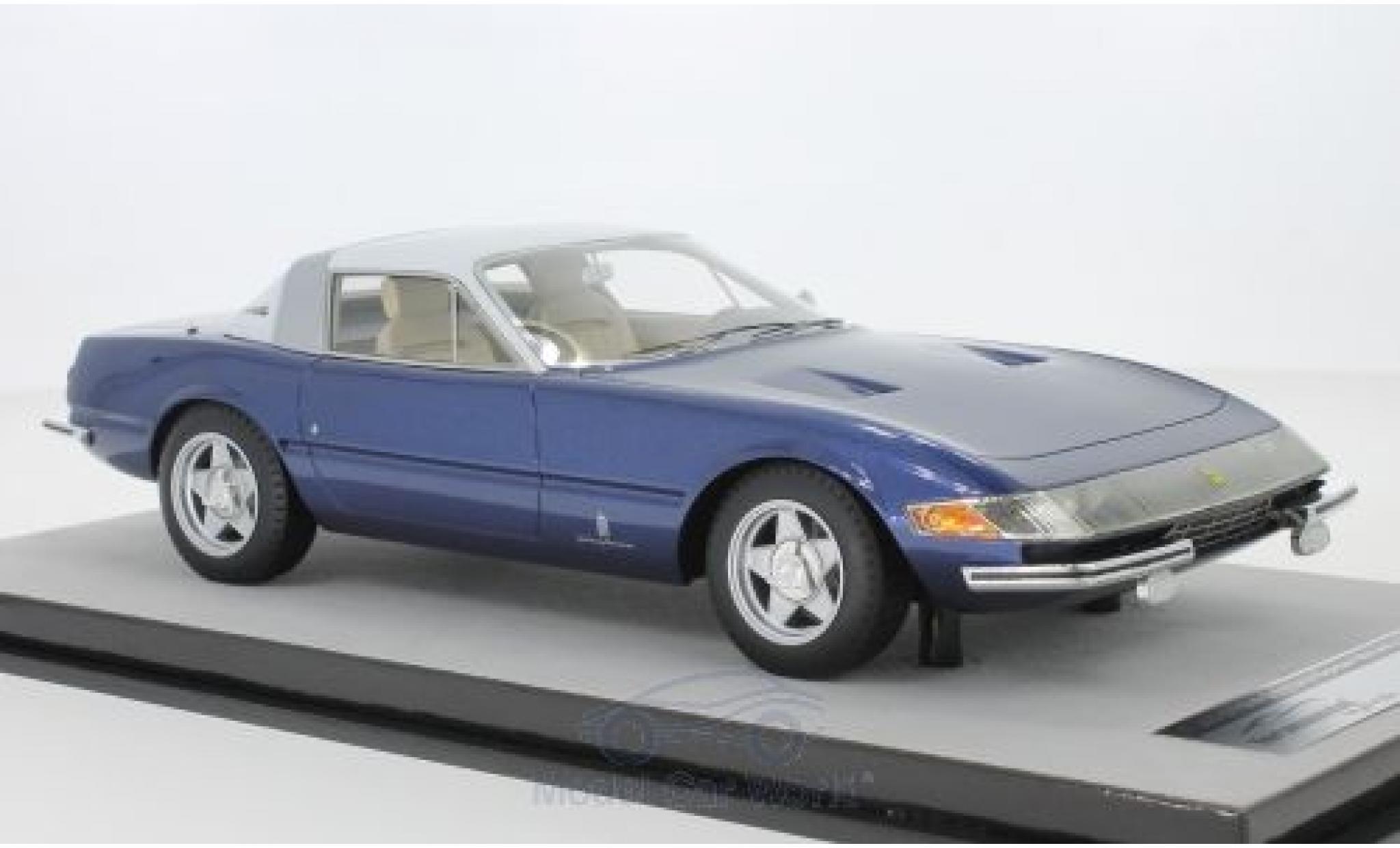 Ferrari 365 1/18 Tecnomodel GTB/4 Daytona Coupe Speciale metallise bleue/blanche 1969