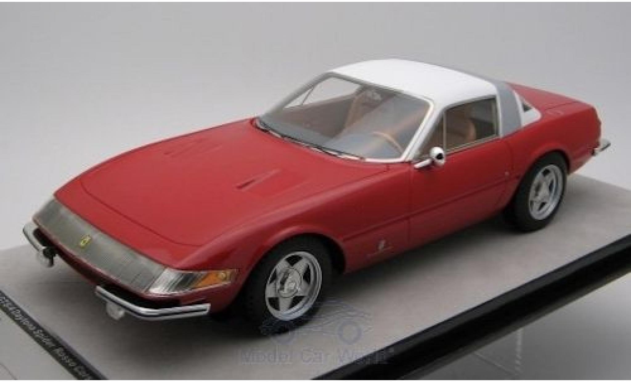 Ferrari 365 1/18 Tecnomodel GTB/4 Daytona Coupe Speciale rouge/blanche 1969
