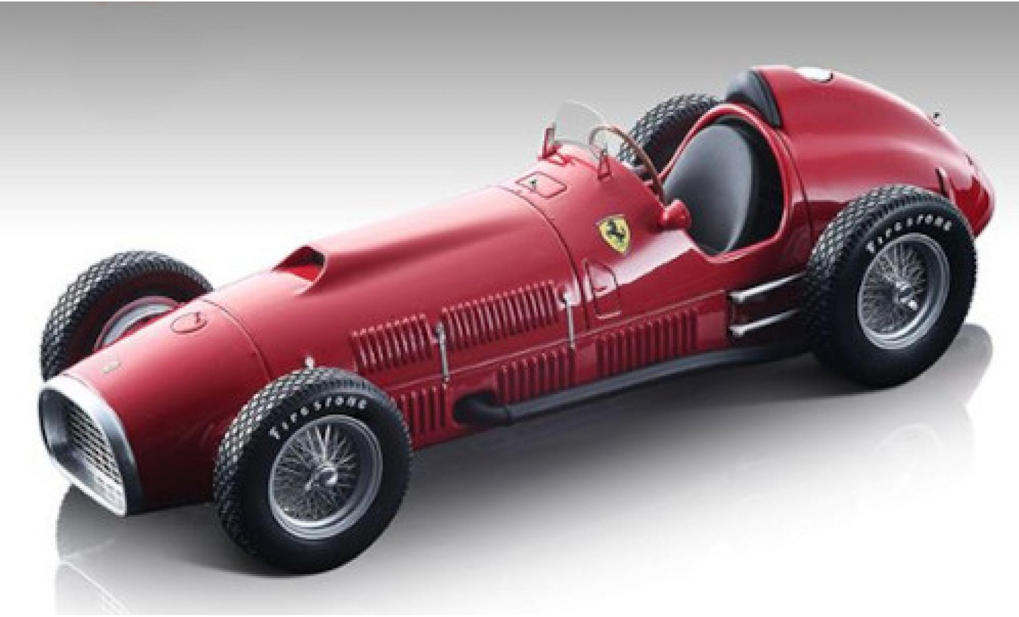 Ferrari 375 1/18 Tecnomodel Indianapolis rouge Scuderia Automobil Weltmeisterschaft Indianapolis 500 1952 Pressefahrzeug