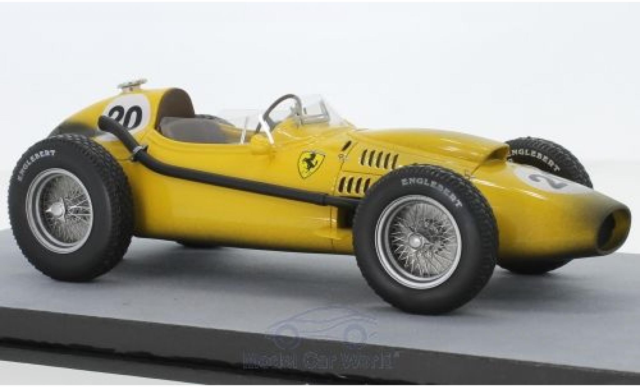 Ferrari Dino 1/18 Tecnomodel 246 F1 No.20 Ecurie Francorchamps Formel 1 GP Belgien 1958 Final Race Version O.Gendebien
