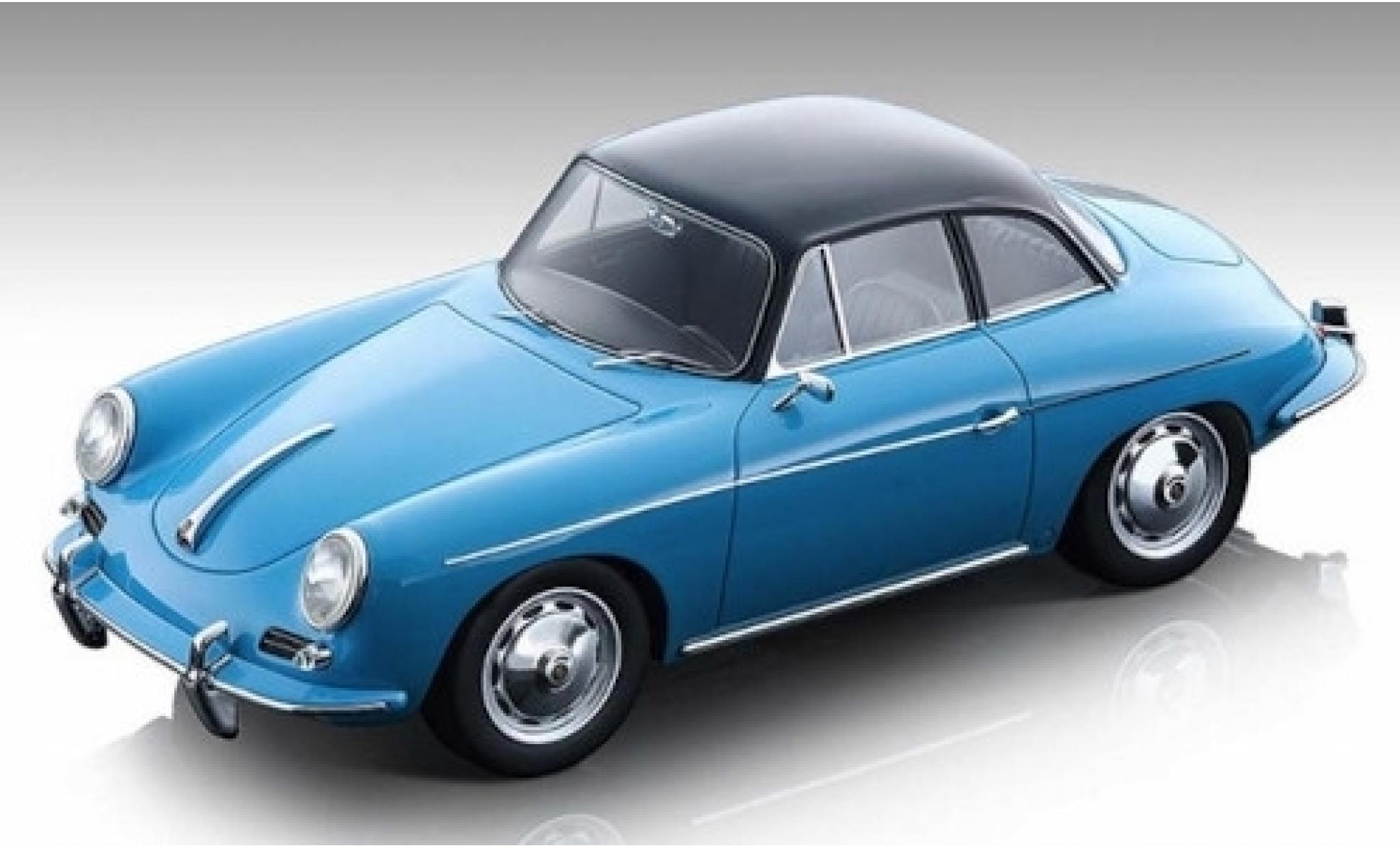 Porsche 356 1/18 Tecnomodel Karmann Hardtop bleue/noire 1961