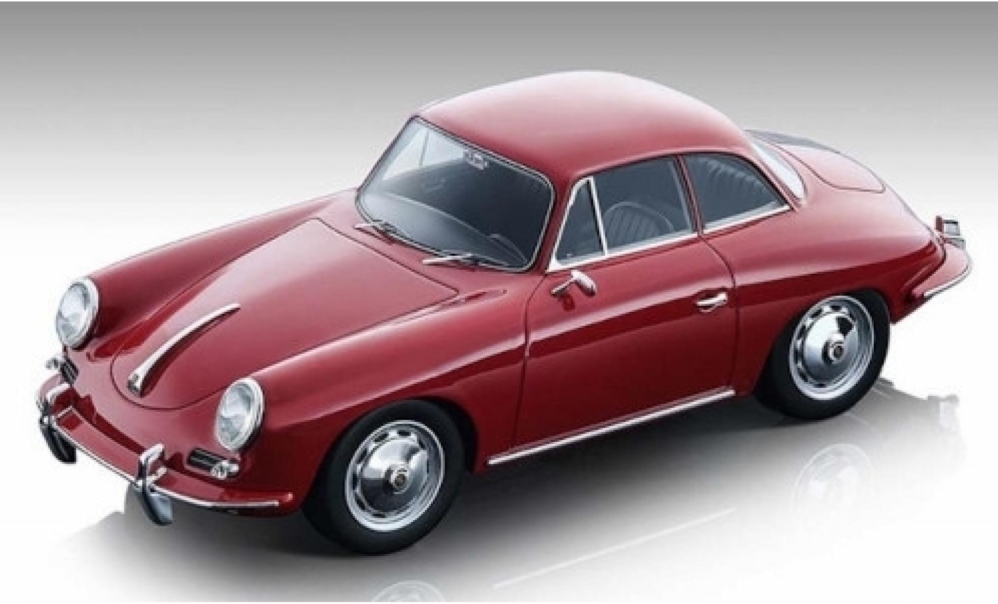 Porsche 356 1/18 Tecnomodel Karmann Hardtop rouge 1961