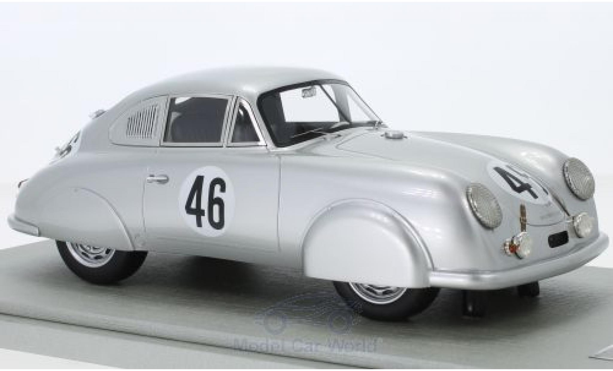 Porsche 356 1/18 Tecnomodel SL No.46 24h Le Mans 1951 A.Veuillet/E.Mouche