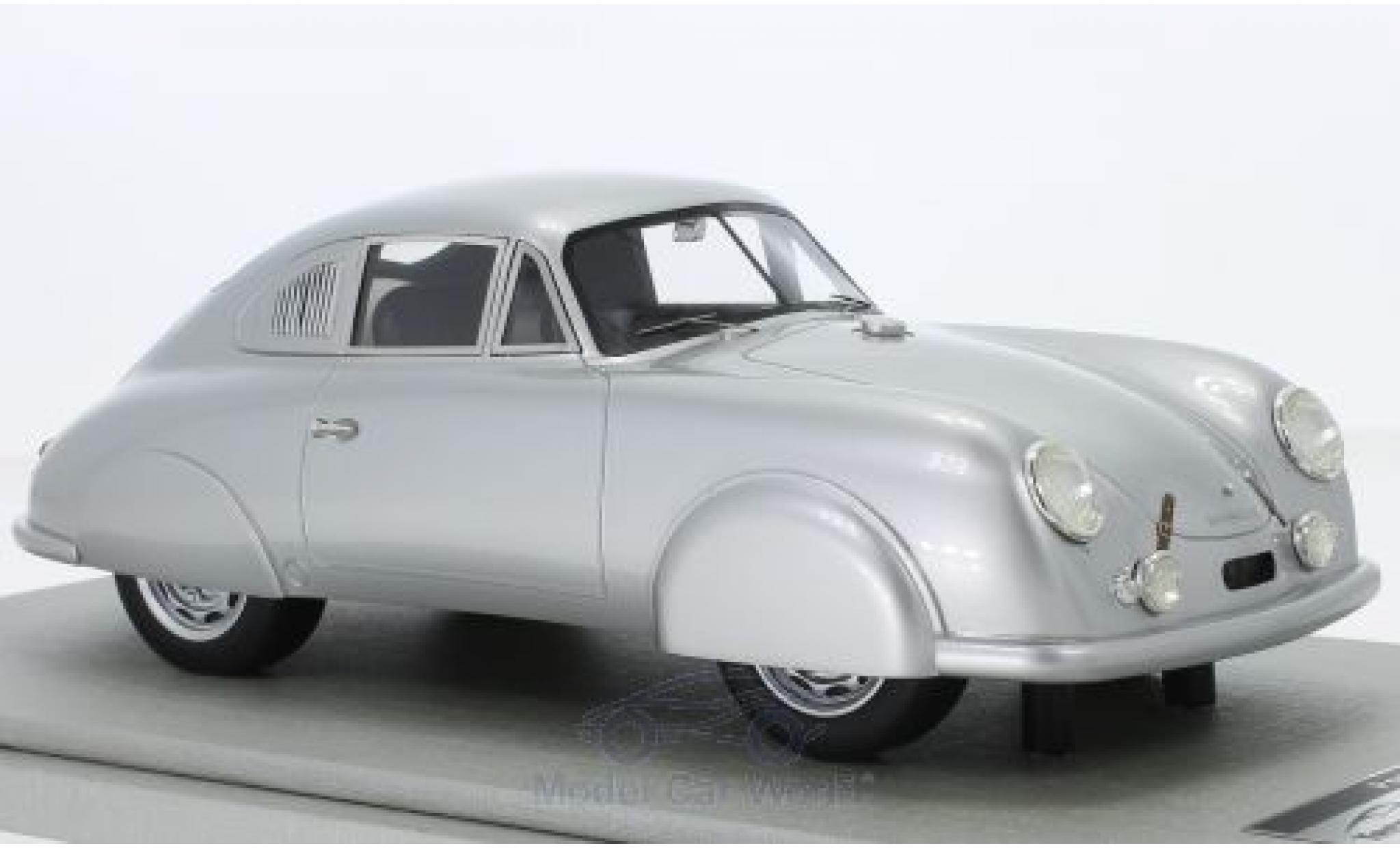 Porsche 356 1/18 Tecnomodel SL grise 1951 Strassenversion