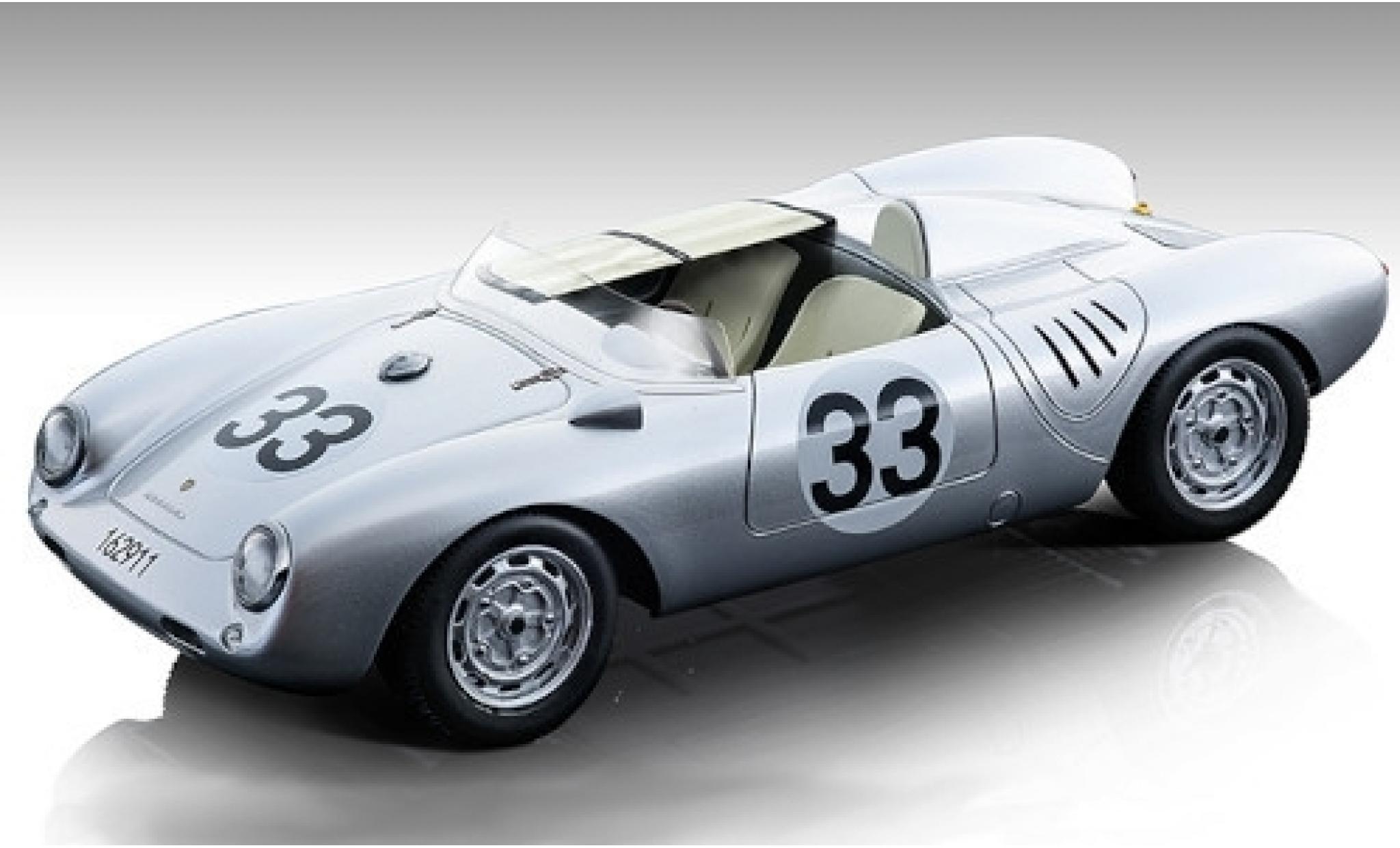 Porsche 550 1/18 Tecnomodel A RS No.33 KG 24h Le Mans 1957 H.Herrmann/R.von Frankenberg