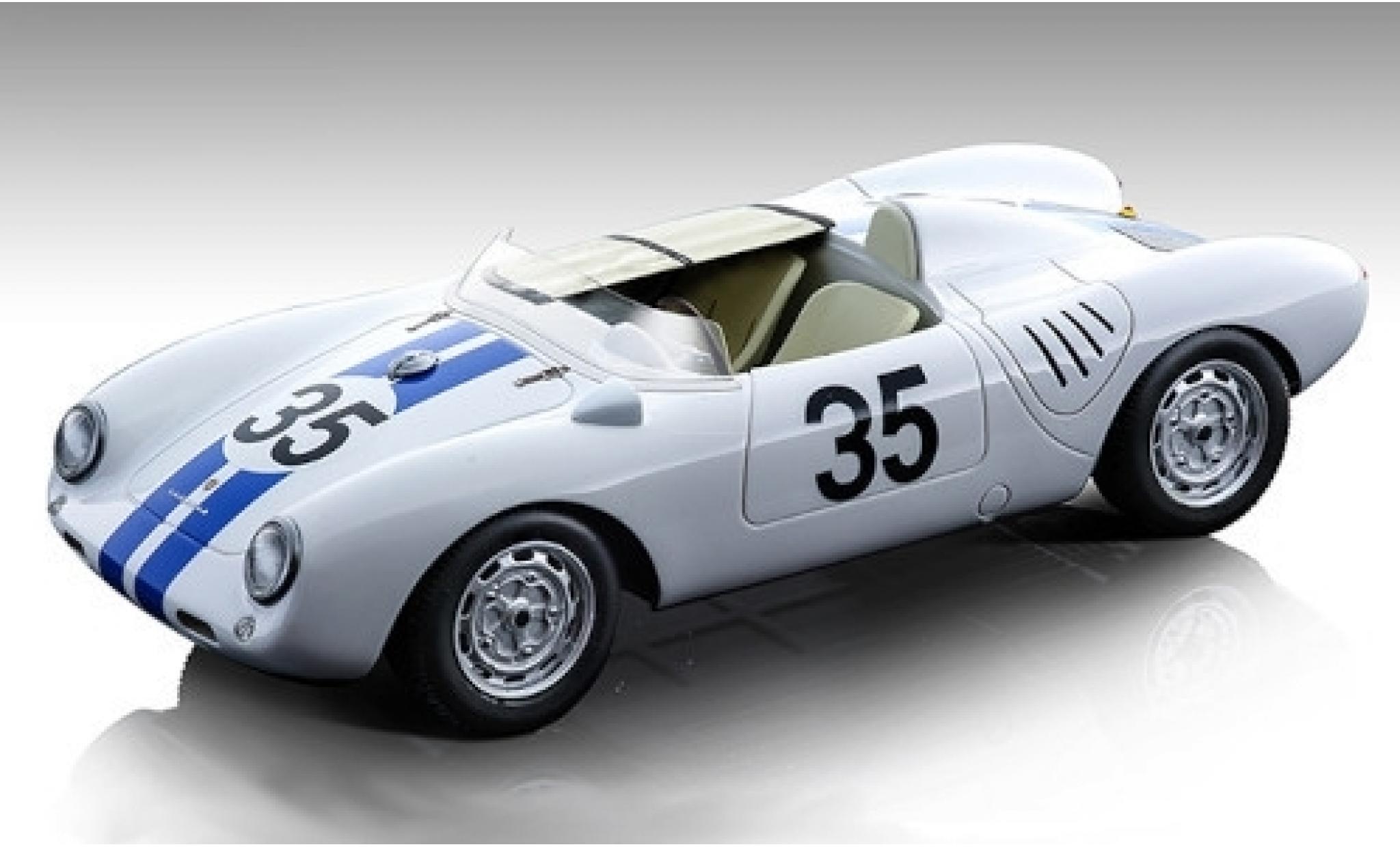 Porsche 550 1/18 Tecnomodel A RS No.35 Ed Hugus 24h Le Mans 1957 E.Hugus/C.Godin de Beaufort