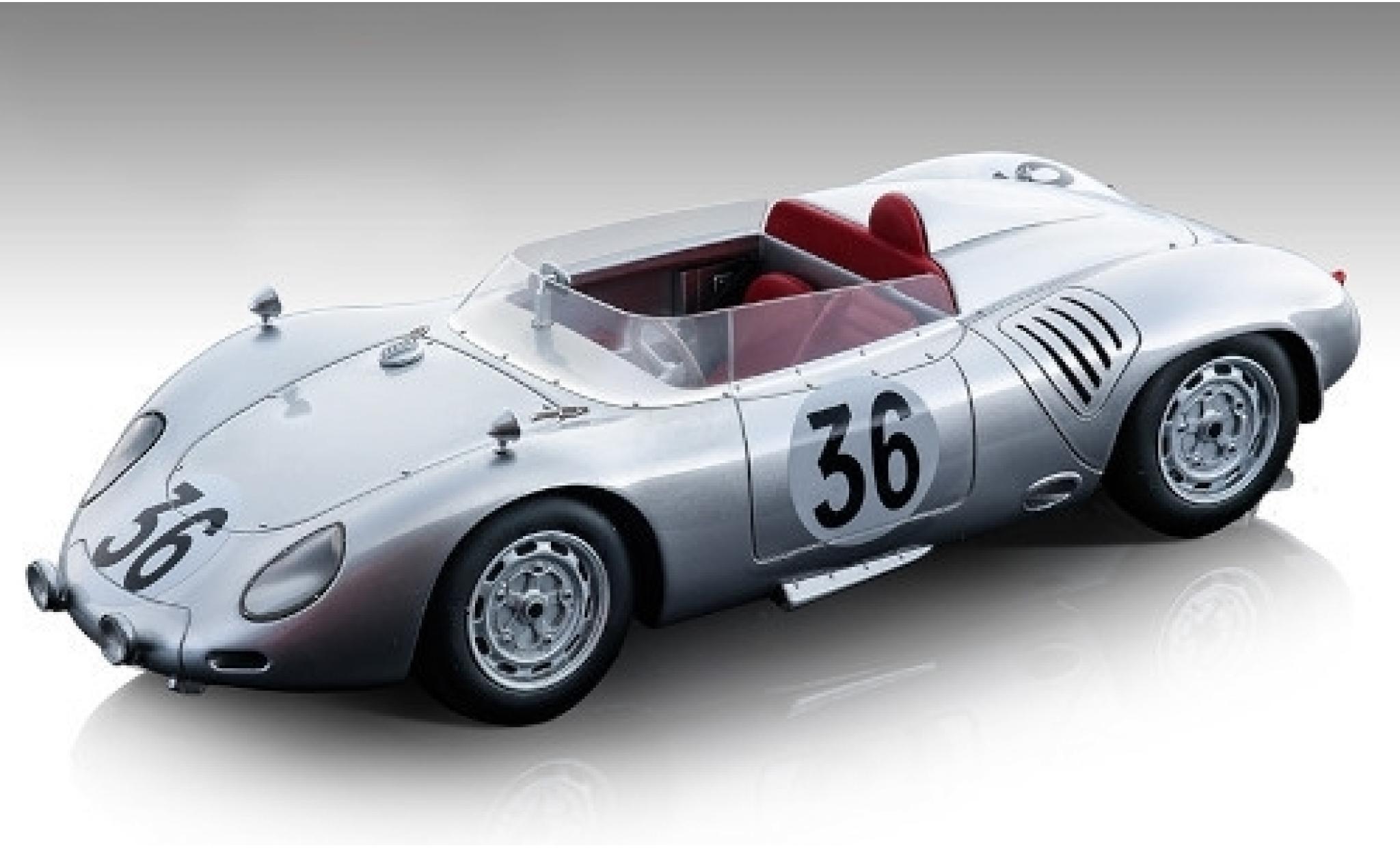 Porsche 718 1/18 Tecnomodel RSK No.36 Baron Carel Godin de Beaufort 24h Le Mans 1959 C.Godin de Beaufort/C.Heins