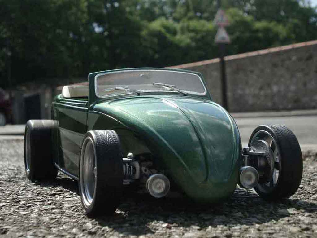 Volkswagen Kafer Hot Rod 1/18 Solido coccinelle the heb2road (cox 1949) tuning miniature