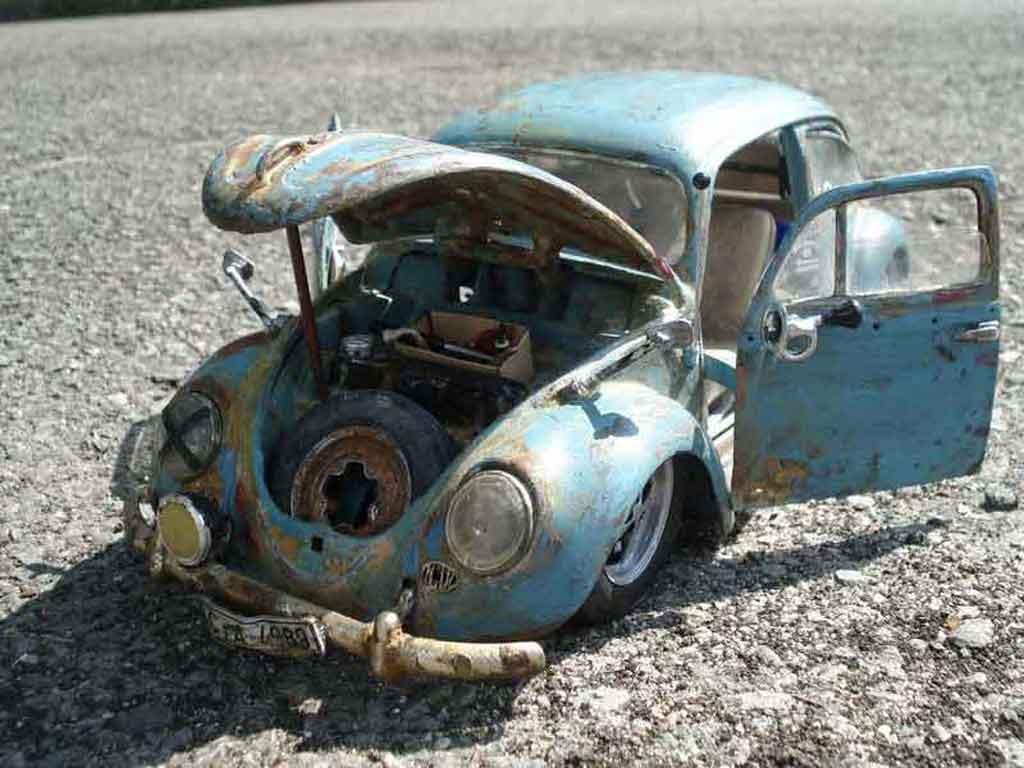 Volkswagen Kafer 1/18 Burago coccinelle ovale 56 hoodride