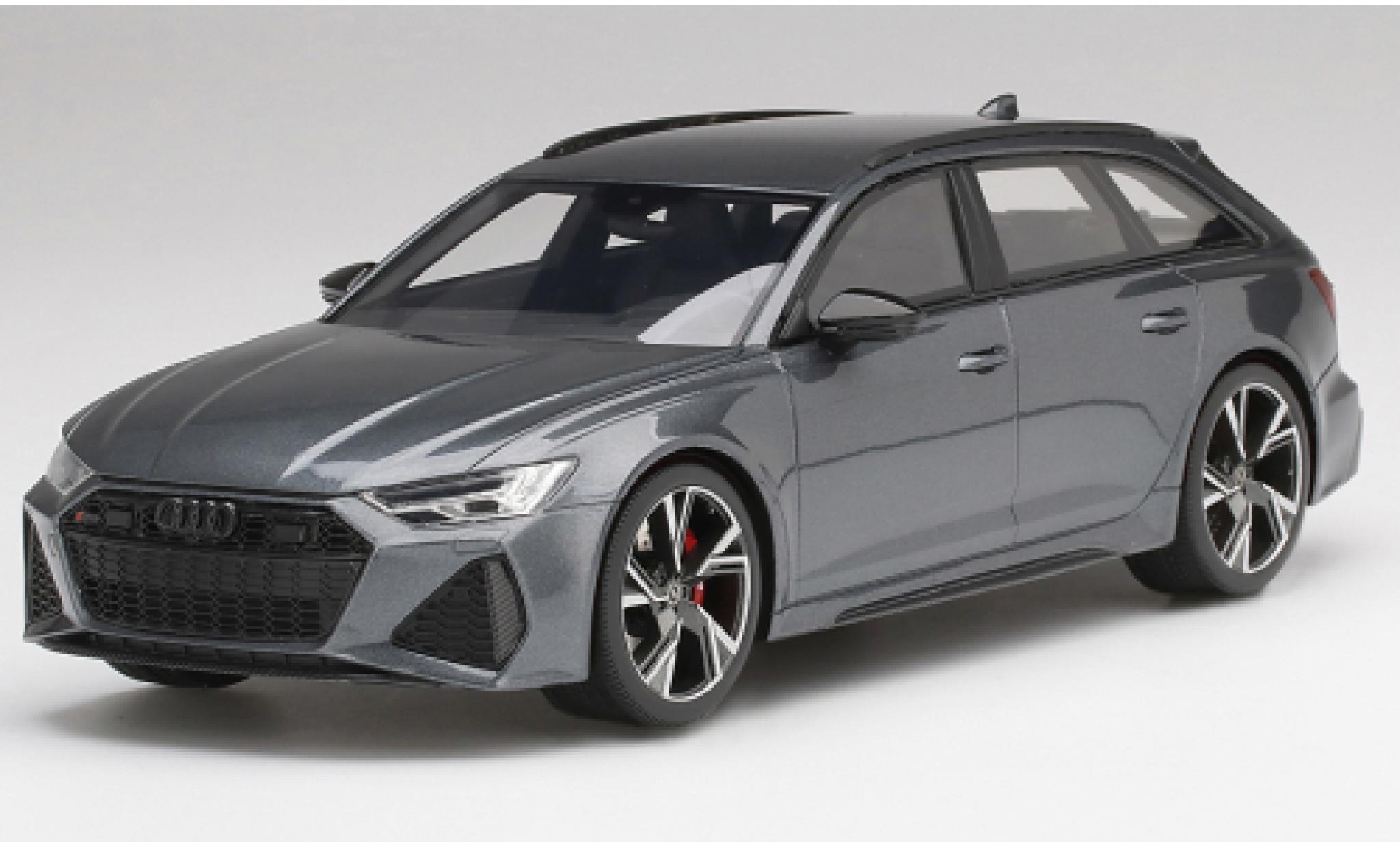 Audi RS6 1/18 Top Speed Avant Carbon Black Edition grey/black