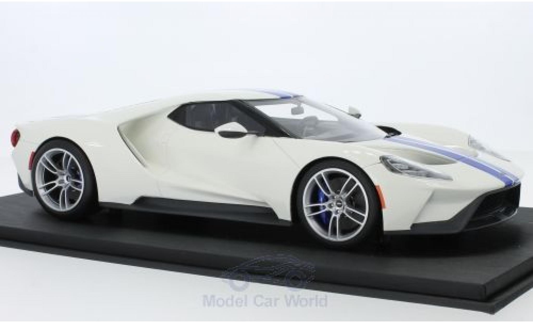 Ford GT 1/18 Top Speed blanche/bleue