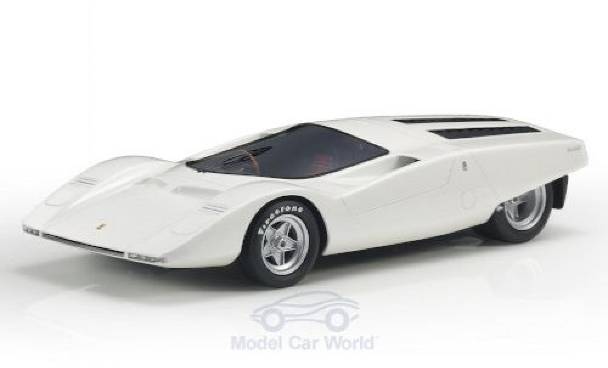 Ferrari 512 1/18 Topmarques Collectibles S Berlinetta Concept métallisé blanche RHD 1969