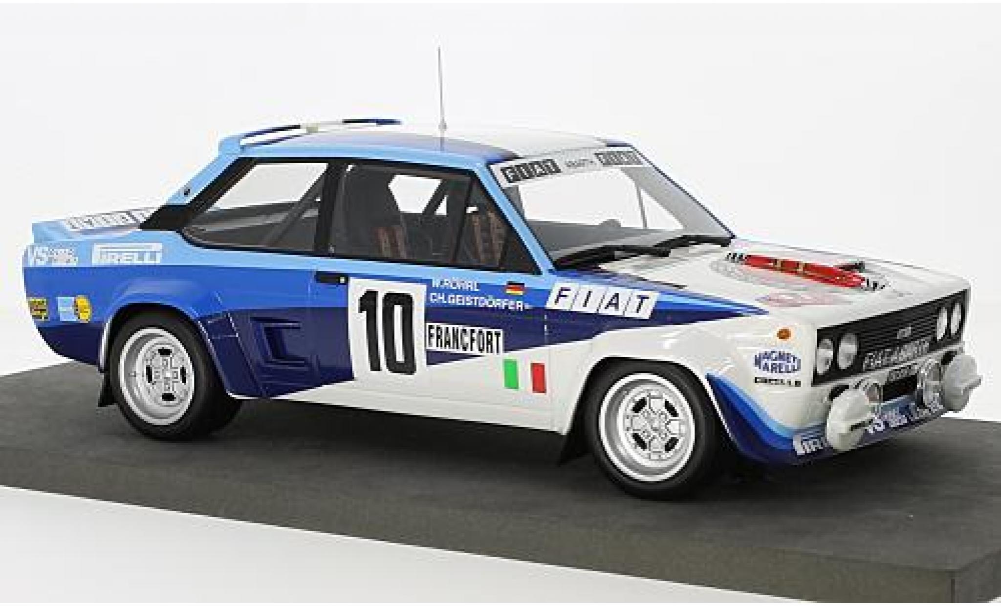 Fiat 131 1/18 Topmarques Collectibles Abarth No.10 Rallye Monte Carlo 1980 W.Röhrl/C.Geistdörfer