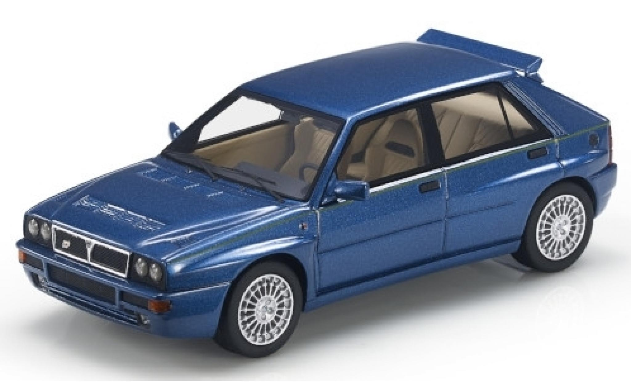 Lancia Delta 1/43 Topmarques Collectibles Integrale Evoluzione metallise bleue/Dekor