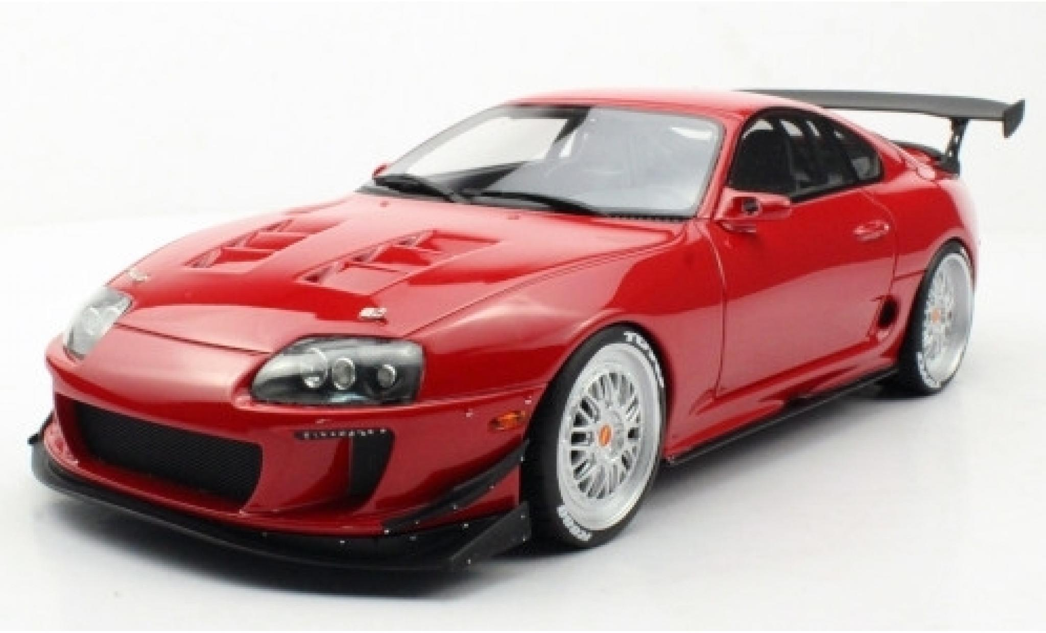 Toyota Supra 1/18 Topmarques Collectibles Enrique Munoz Twin Turbo ERM red