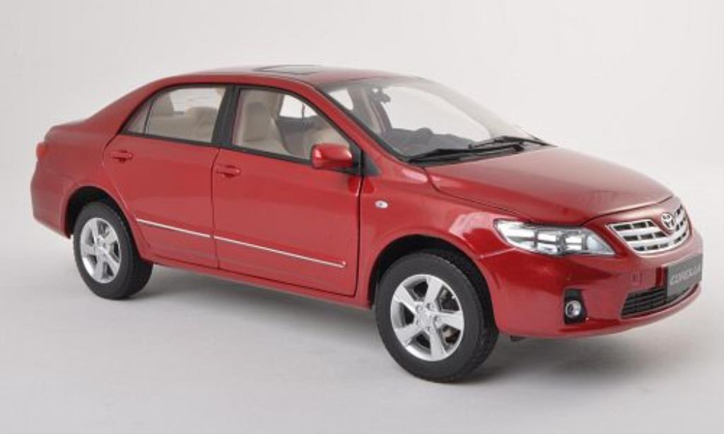 Toyota Corolla 1/18 Paudi rouge 2011 miniature