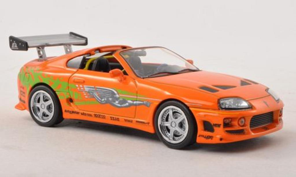 Toyota Supra 1/43 Greenlight MkIV Tuning orange mit Dekor Fast & Furious 1995 modellautos