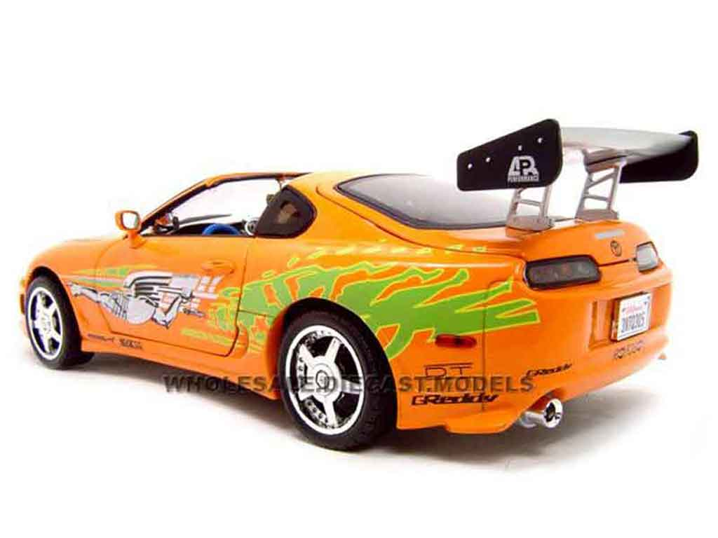Toyota Supra miniature fast and furious 1 Ertl 1/18 ...