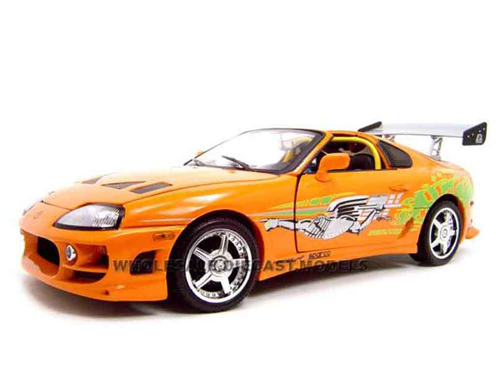toyota supra fast and furious 1 ertl diecast model car 1. Black Bedroom Furniture Sets. Home Design Ideas