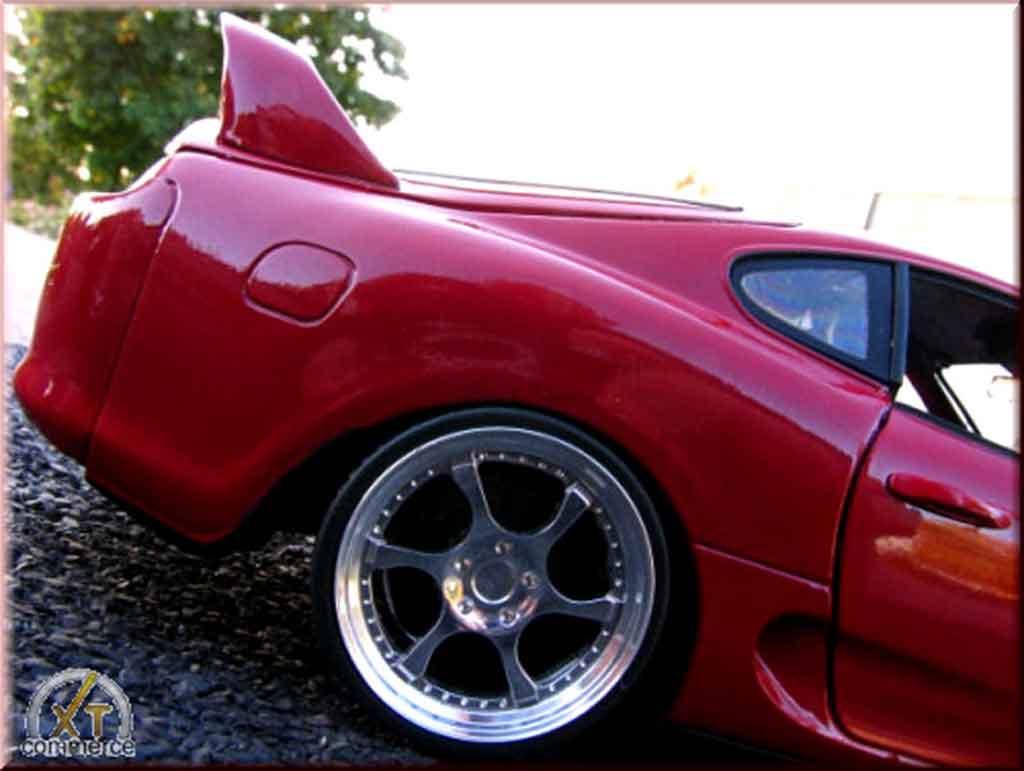 Toyota Supra 1/18 Kyosho rosso jantes 8j x 18 aluminum hmc