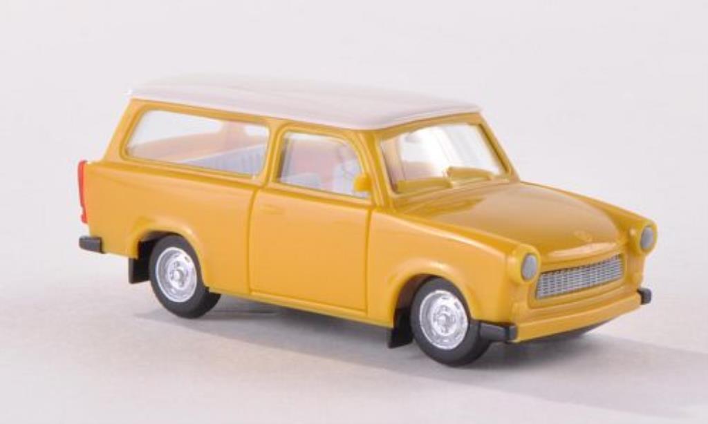 Trabant 601 1/87 Herpa Universal jaune/blanche miniature