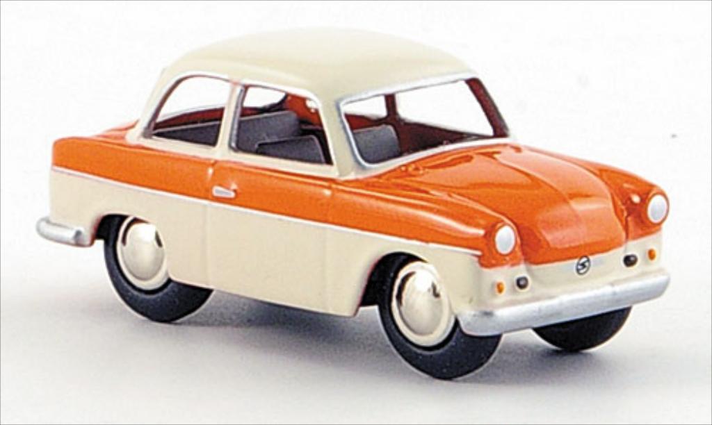 Trabant P50 1/87 Bub lachs/creme miniature