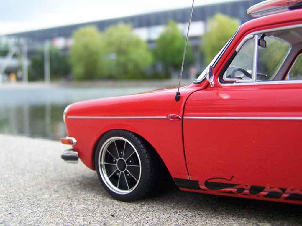 Volkswagen 1600 1/18 Sun Star tl old school red avec brm jantes