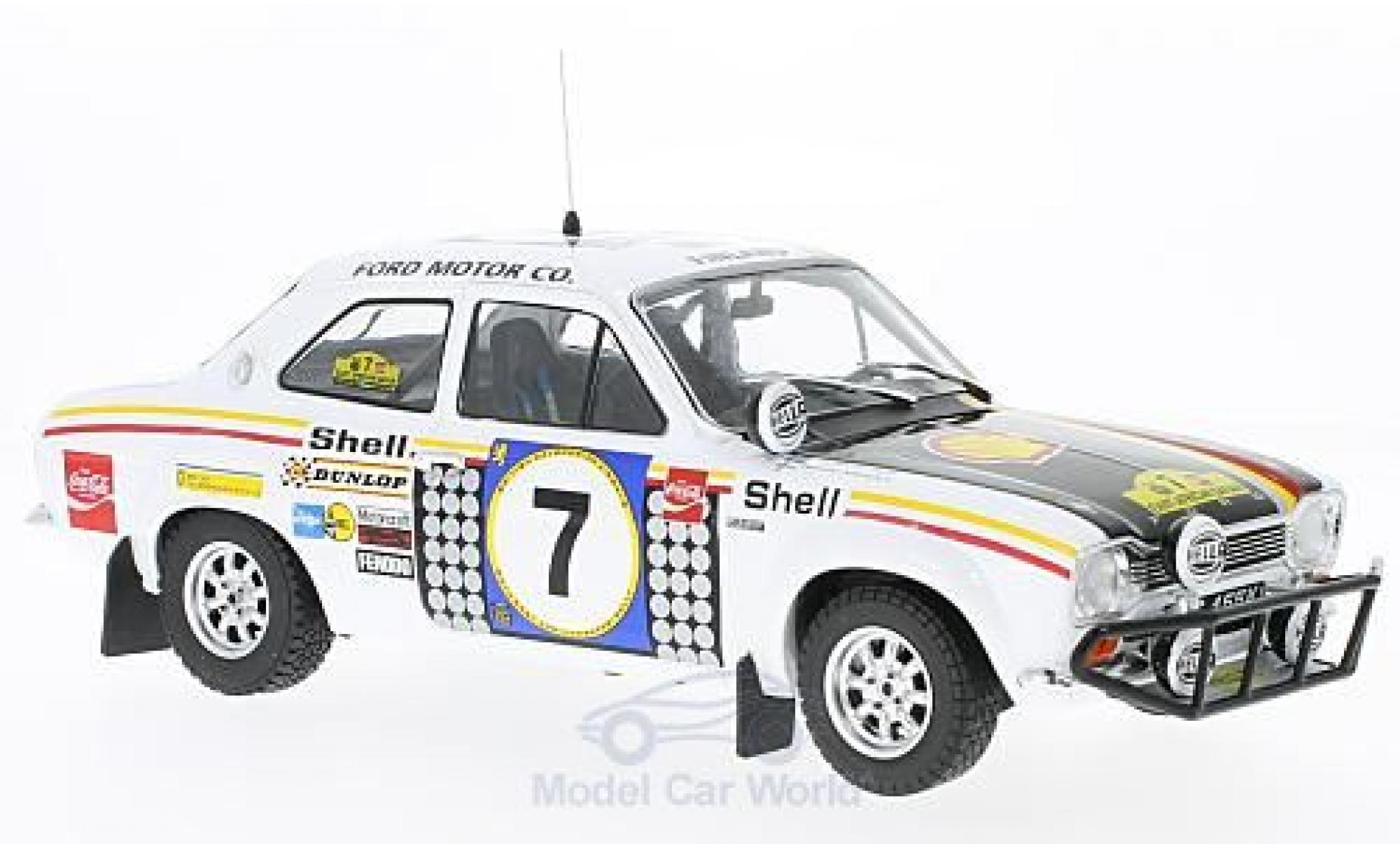 Ford Escort 1/18 Triple 9 Collection MK I RS 1600 No.7 Rallye Safari 1972 H.Mikkola/G.Palm ohne Vitrine