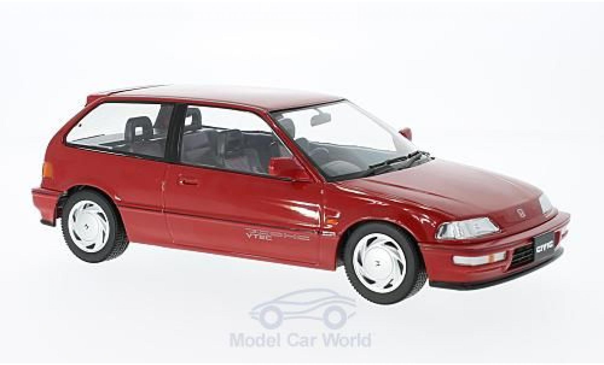 Honda Civic 1/18 Triple 9 Collection EF-9 SiR rouge RHD 1990 ohne Vitrine