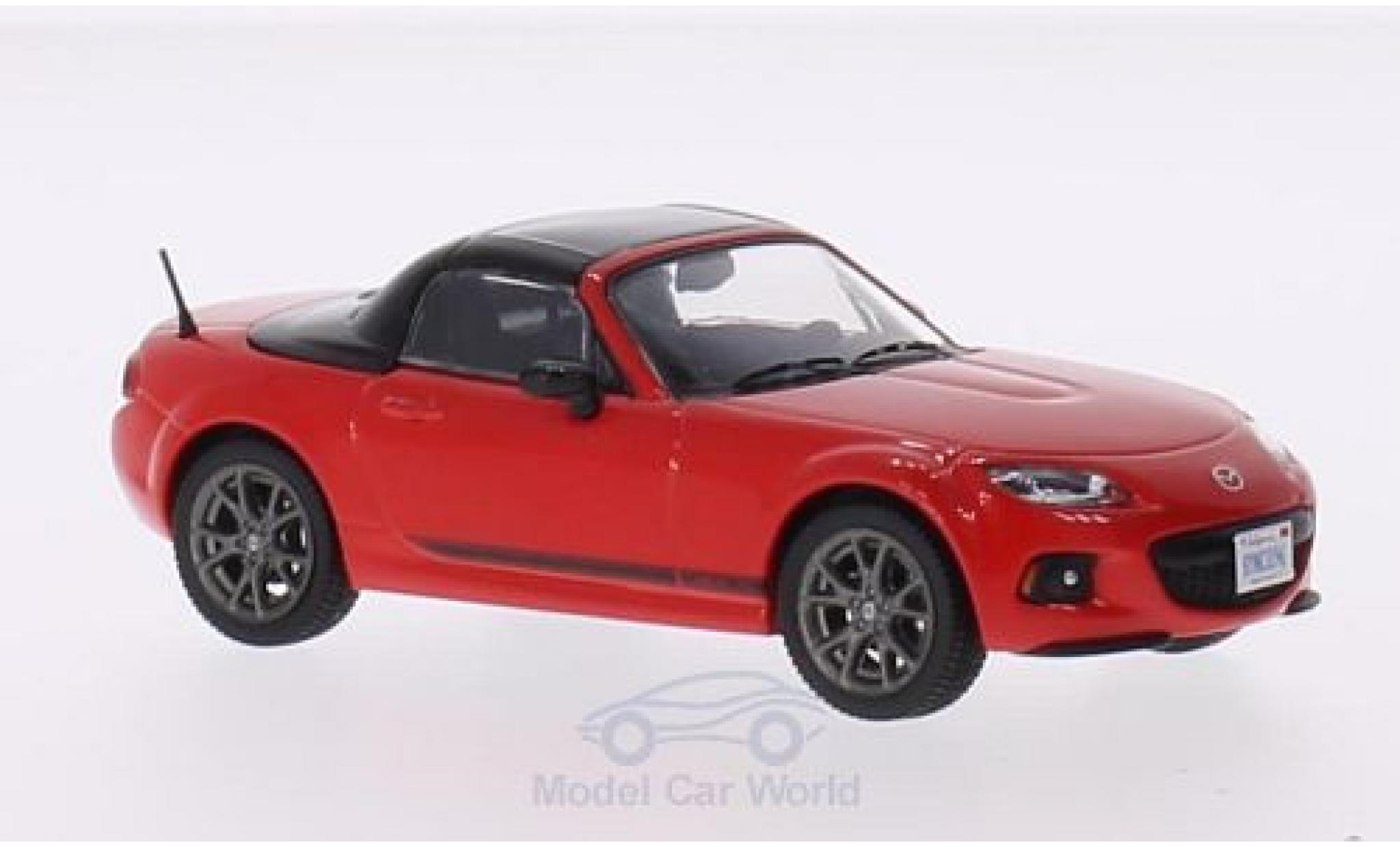 Mazda MX 1/43 Triple 9 Collection -5 rouge/noire 2013 mit geschlossenem Dach