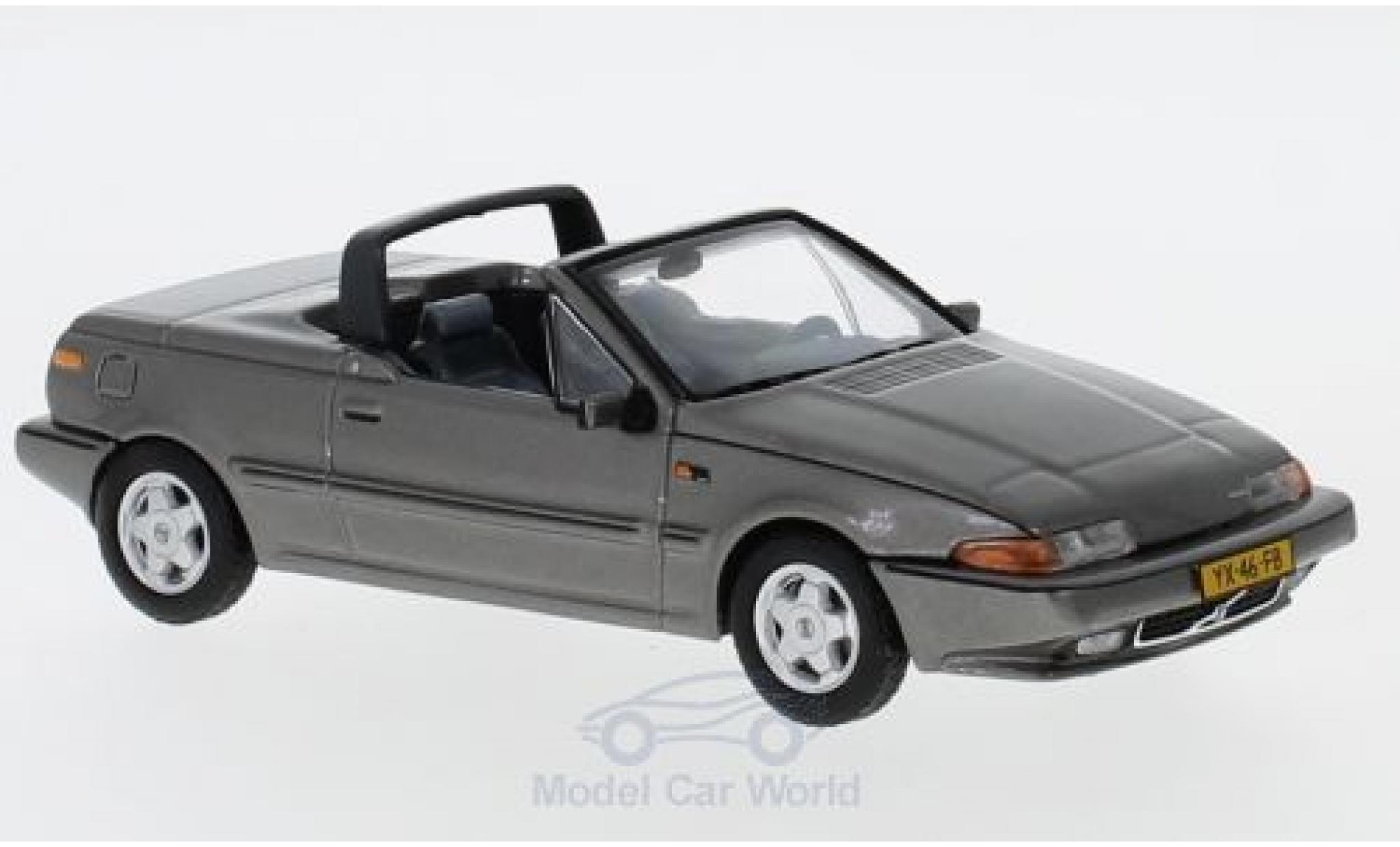 Volvo 480 1/43 Triple 9 Collection Turbo Cabriolet metallise grise 1990