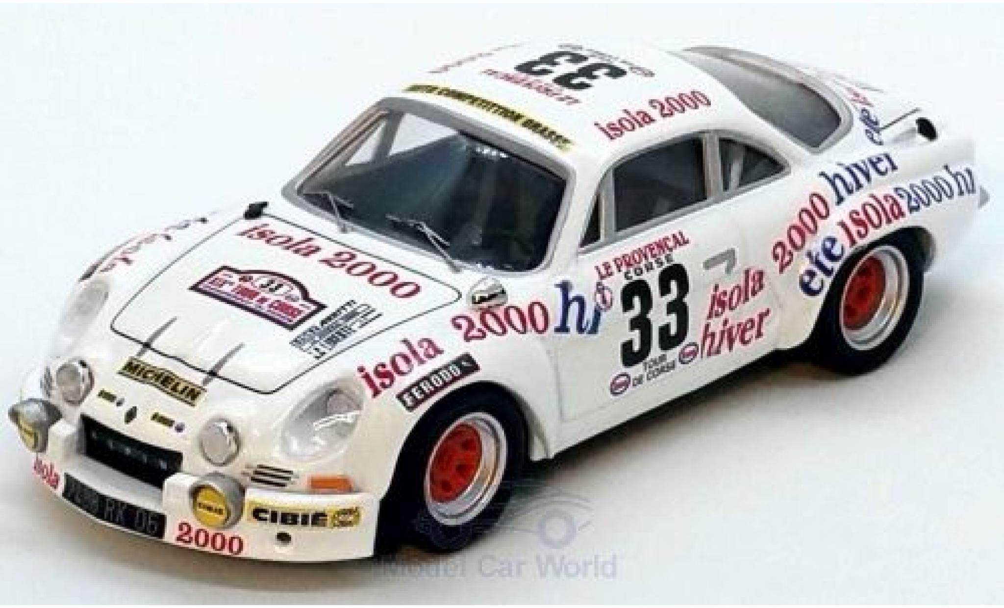 Alpine A110 1/43 Trofeu Renault 1800 No.33 Rallye WM Tour de Corse 1975 G.Fantino/Dor