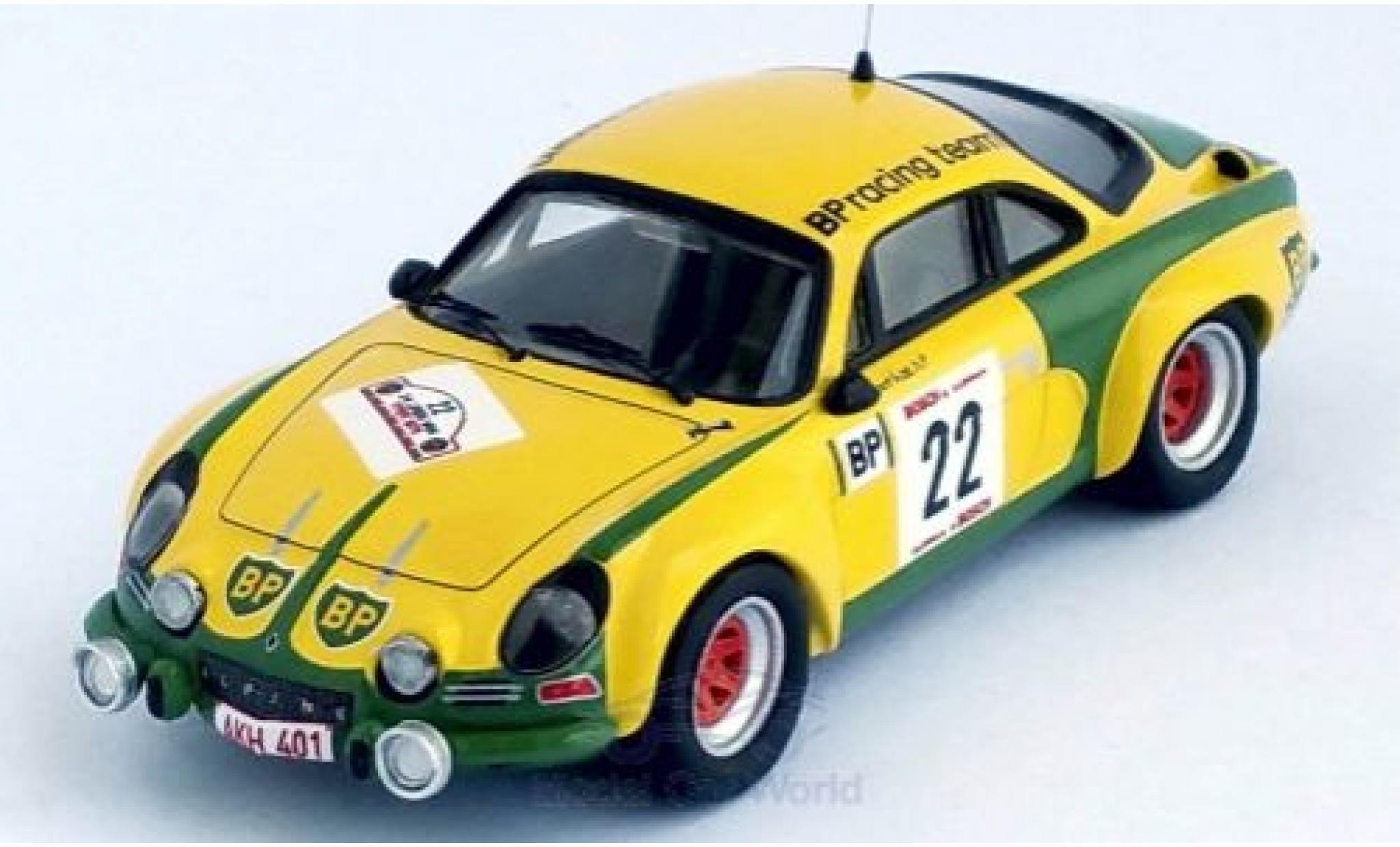 Alpine A110 1/43 Trofeu Renault No.22 BP Rally Ypres 1976 F.Roothaert/E.Nijs
