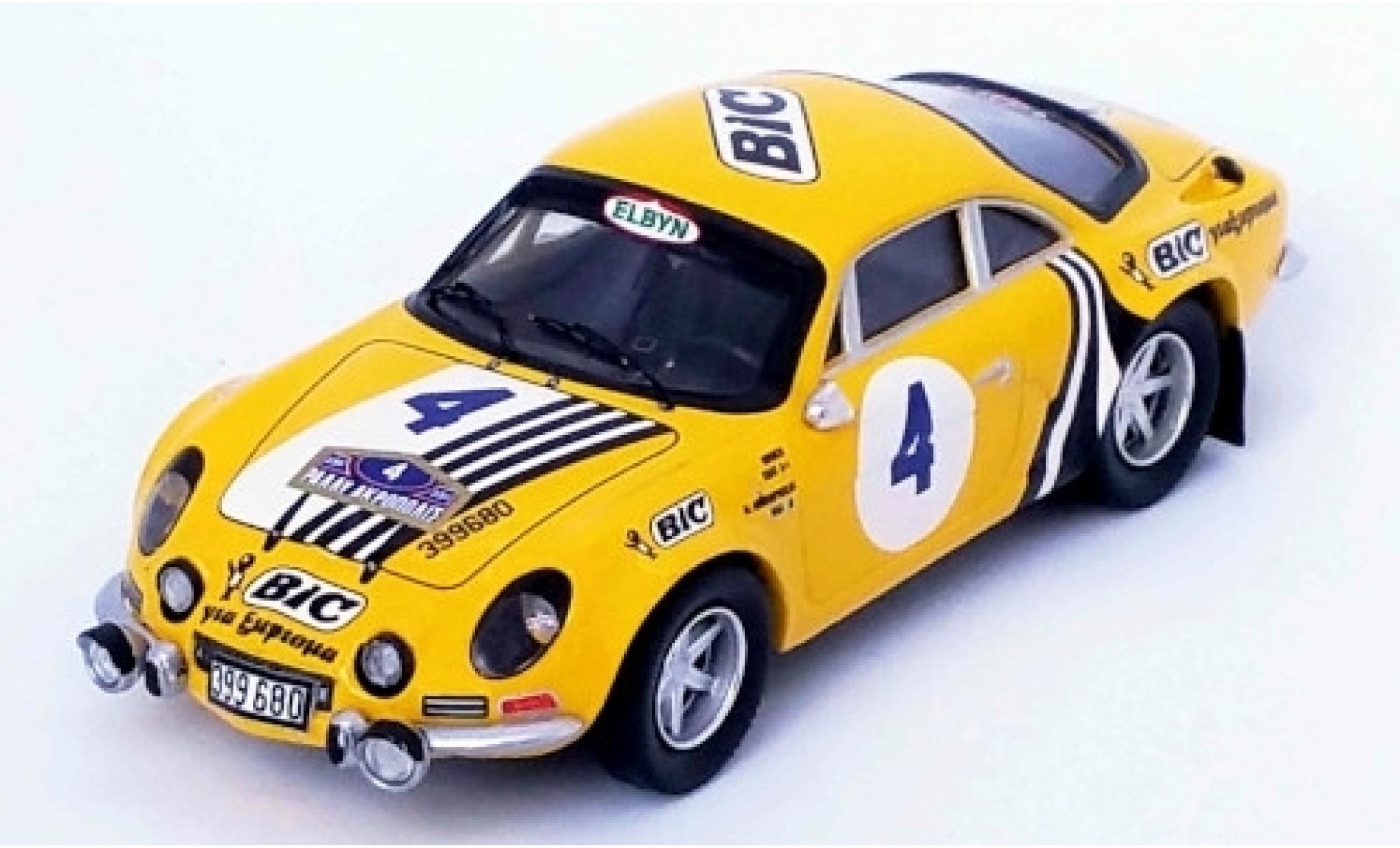 Alpine A110 1/43 Trofeu Renault No.4 BIC Rallye WM Rallye Acropolis 1976 Siroco/M.Andriopoulos