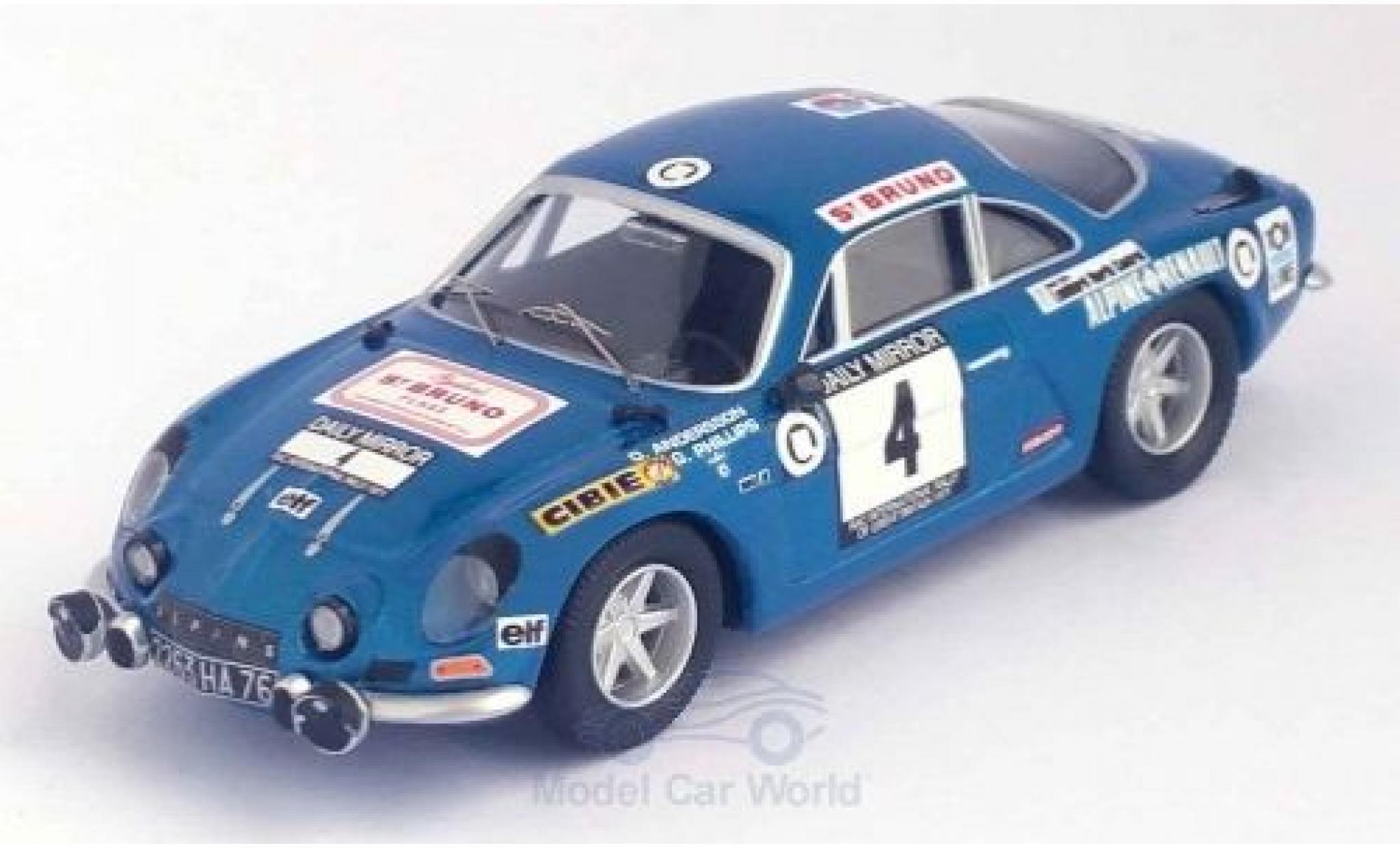 Alpine A110 1/43 Trofeu Renault No.4 RAC Rallye 1971 O.Andersson/G.Phillips