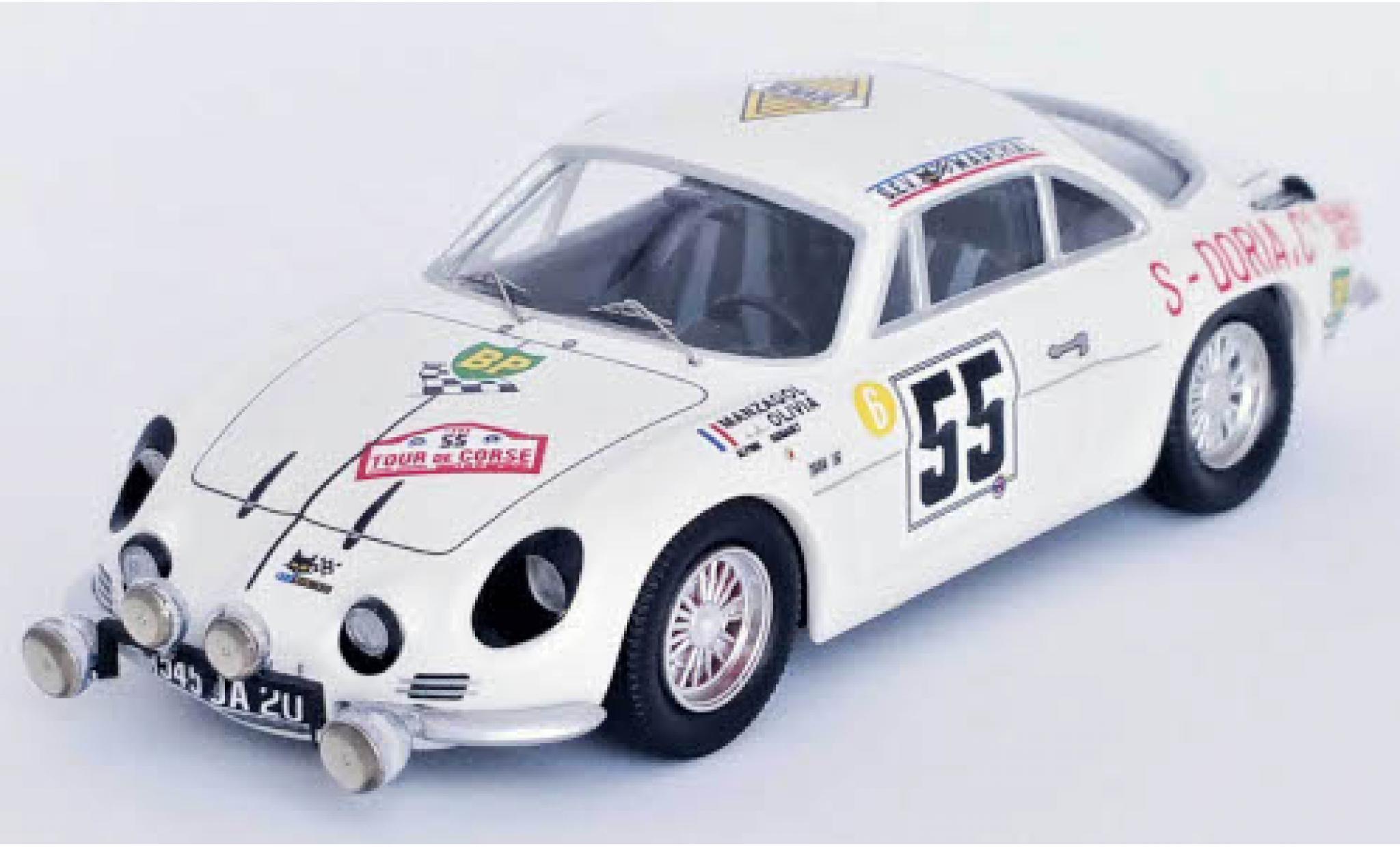 Alpine A110 1/43 Trofeu Renault No.55 Tour de Corse 1969 J.-P.Manzagol/J.-P.Oliva