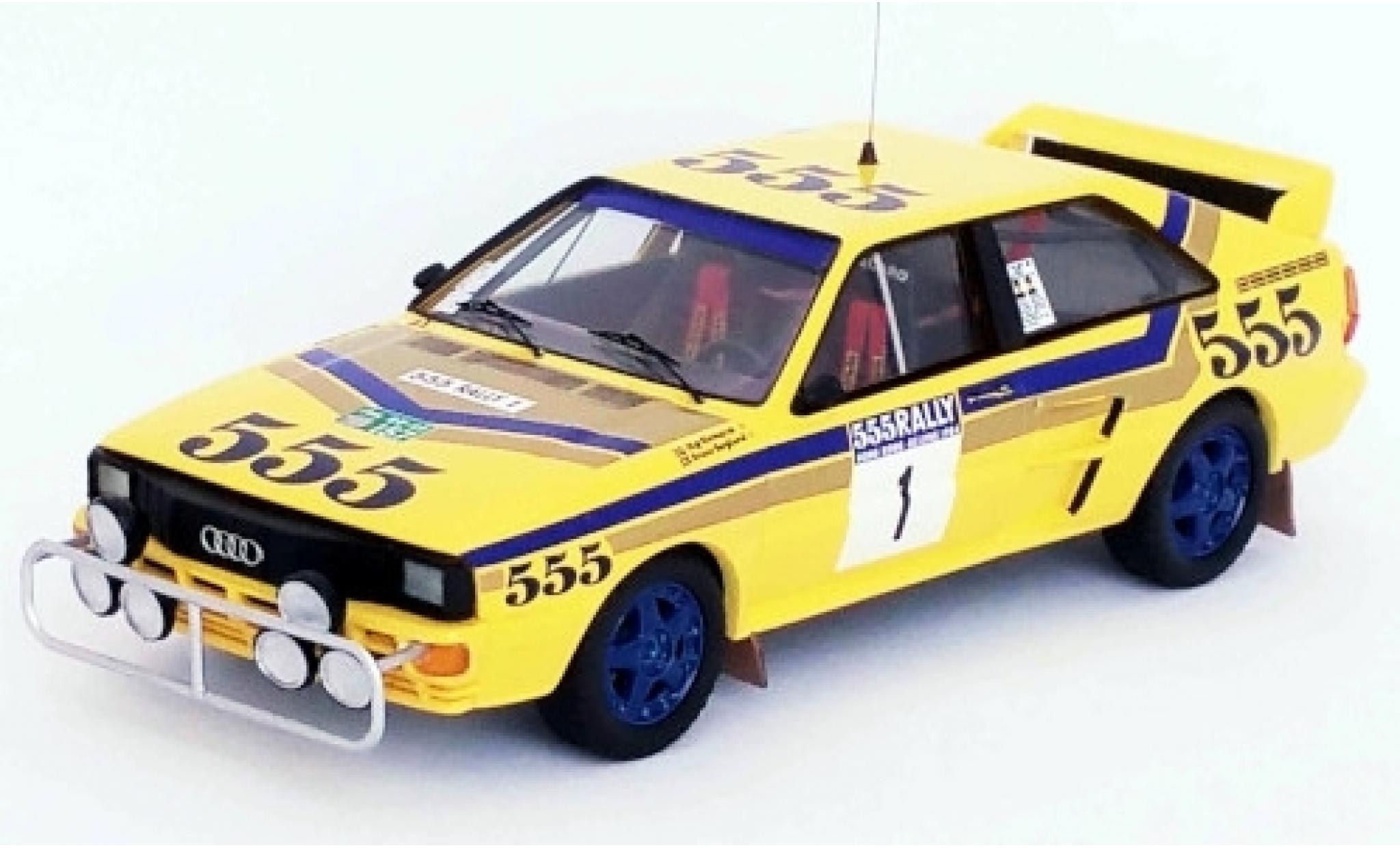 Audi Quattro 1/43 Trofeu quattro No.1 555 Rallye Hong Kong - Peking 1986 S.Blomqvist/B.Berglund