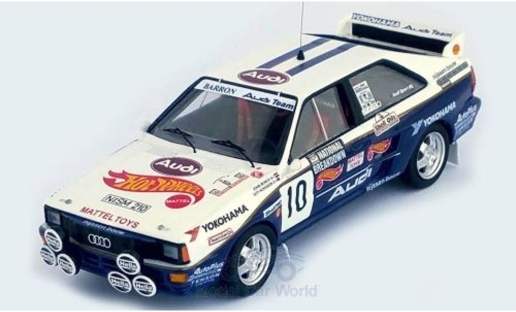 Audi Quattro 1/43 Trofeu quattro No.10 Mattel - Hot Wheels National Breakdown Rally 1987 J.Bosch/G.Hodgson