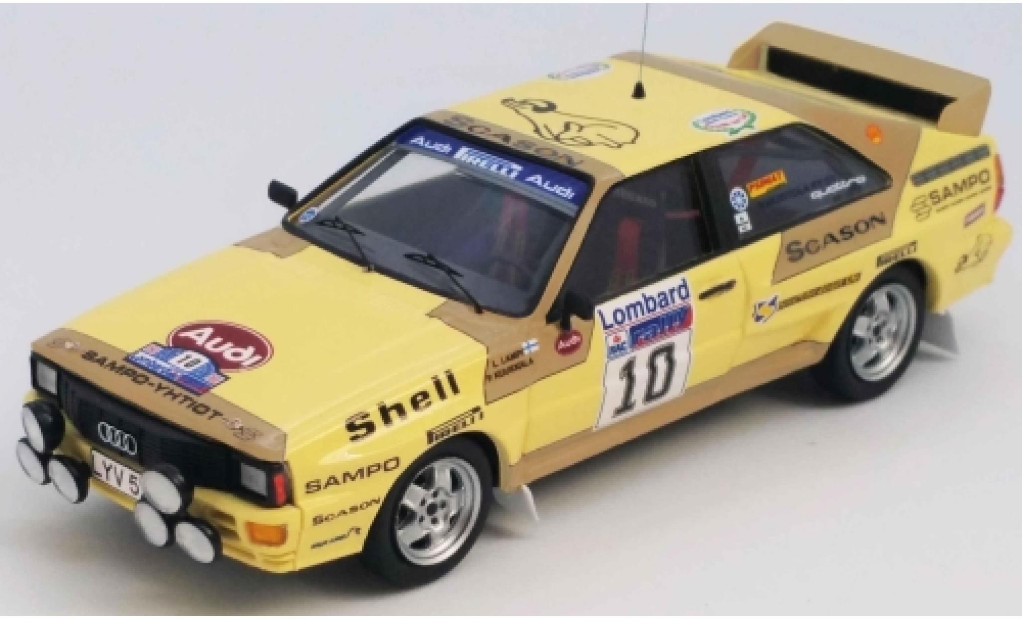 Audi Quattro 1/43 Trofeu quattro No.10 Rallye WM RAC Rallye 1983 L.Lampi/P.Kuukkala