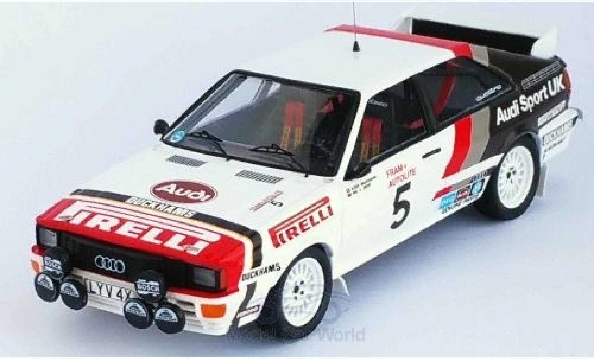 Audi Quattro 1/43 Trofeu quattro No.5 Sport UK Welsh Rally 1982 B.Waldegaard/P.Short