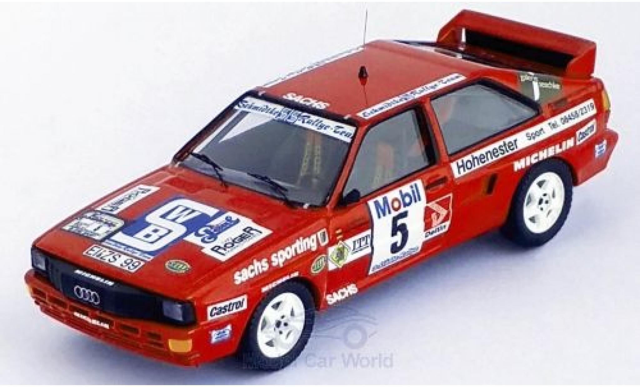 Audi Quattro 1/43 Trofeu quattro No.5 Schmidtke Rallye-Team Rallye DM Drei-Städte-Rallye 1986 O.Schmidtke/S.Kücken