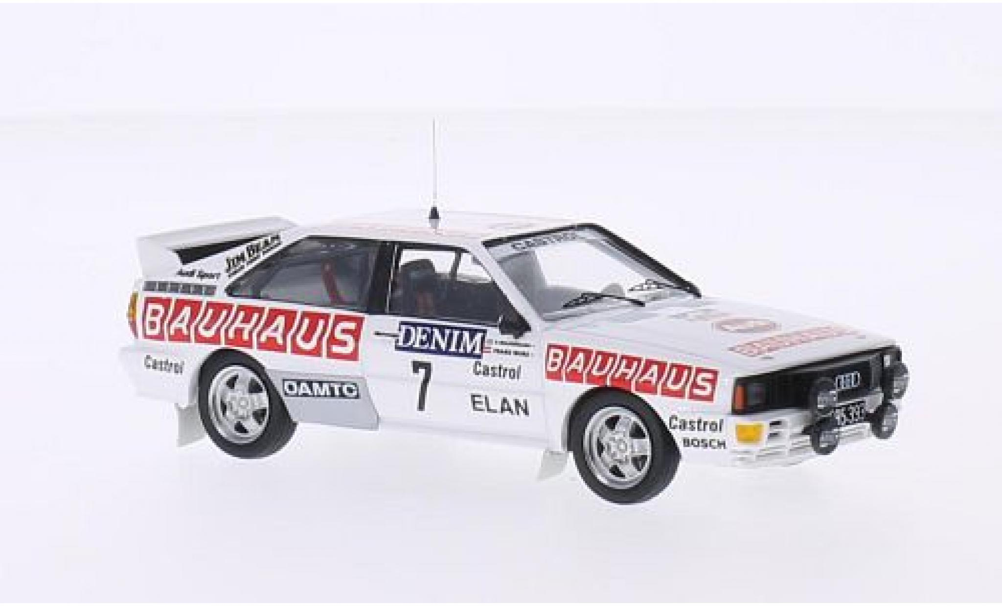 Audi Quattro 1/43 Trofeu quattro No.7 Bauhaus Jänner Rally 1984 B.Waldegaard/F.Wurz
