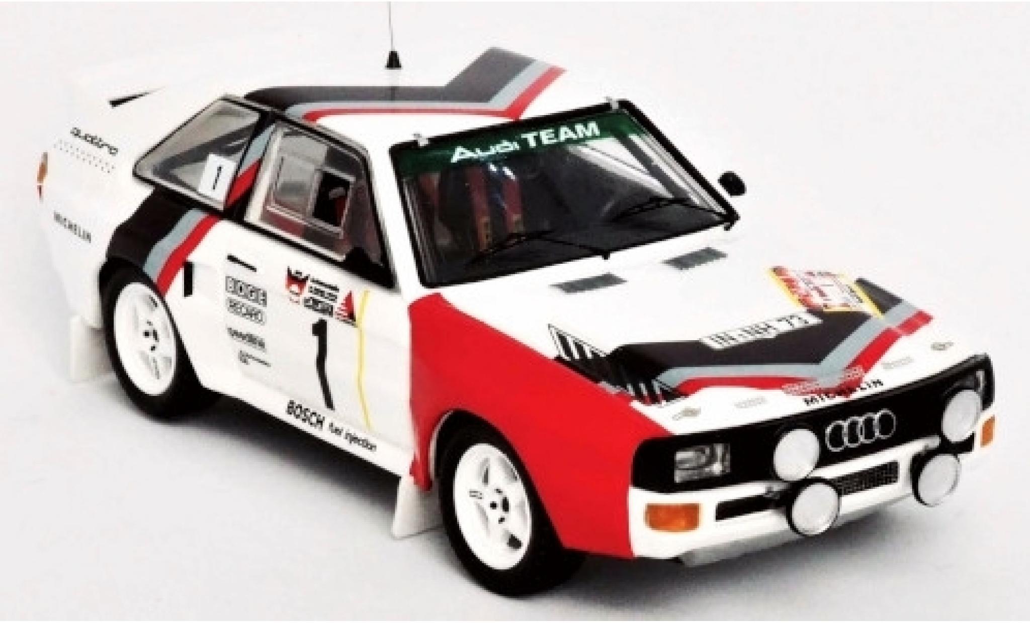 Audi Sport Quattro 1/43 Trofeu Sport quattro No.1 Team Rally DM 3 Städte Rally 1984 Version Freitagabend W.Röhrl/C.Geistdörfer